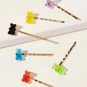 Gummy Bear and Bumblebee Hair Pins with Free Chest